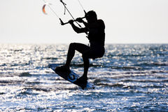 Kitesurfer  silhouette Stock Photos