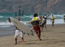 Kitesurfer in SPAIN CHAMPIONSHIP K Stock Photography