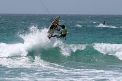Kitesurfer in SPAIN CHAMPIONSHIP Kitesurf Royalty Free Stock Images