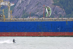 Kitesurfer at Squamish Stock Image