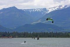 Kitesurfer at Squamish Royalty Free Stock Photography