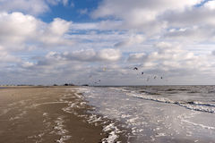 Kitesurfer in St- Peter-Ording Stock Photo
