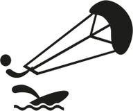Kitesurfer symbol stock illustrationer
