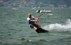 Kitesurfer waves stock photography