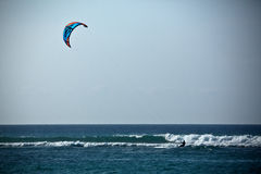 Kitesurfer and Waves Royalty Free Stock Photos