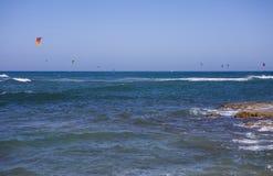 Kitesurfers στοκ φωτογραφία