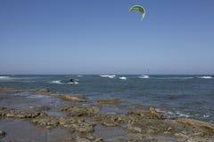 Kitesurfers images stock