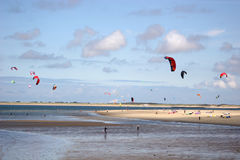 Kitesurfers Royalty Free Stock Photo