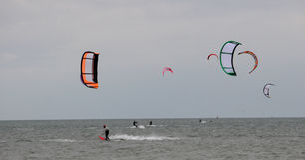 Kitesurfers Royalty Free Stock Images