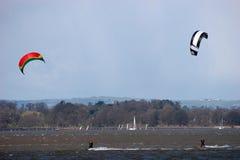 kitesurfers Στοκ Εικόνες