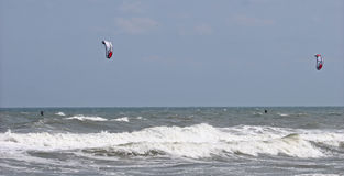 Kitesurfers Photo stock