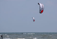 Kitesurfers Royalty Free Stock Photography