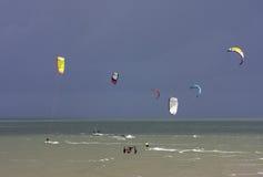 Kitesurfers Stock Image