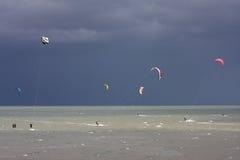 Kitesurfers Stock Photography