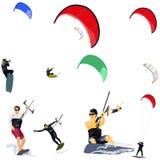 Kitesurfers Fotografia Stock