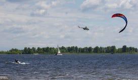 Kitesurfers Стоковая Фотография RF
