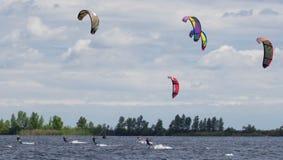 Kitesurfers Стоковое Изображение RF