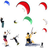 Kitesurfers Stock Photography