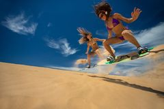 Kite boarding royalty free stock images