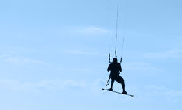 kitesurfing Маврикий стоковые фото
