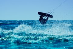 Kitesurfing Immagini Stock Libere da Diritti