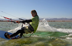 Kitesurfing Photo libre de droits