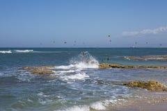 Kitesurfing στοκ φωτογραφία με δικαίωμα ελεύθερης χρήσης