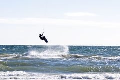 Kitesurfing photographie stock
