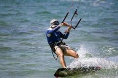 Kitesurfing Photos libres de droits