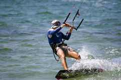 kitesurfing Royaltyfria Foton