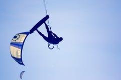 kitesurfing Royaltyfri Foto