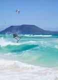 Kitesurfing Imagem de Stock