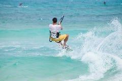 Kitesurfing Stock Foto's