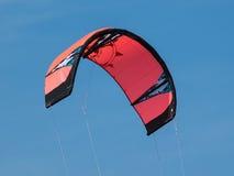 Kitesurfing. Kite for kitesurfing on the blue sky Stock Images
