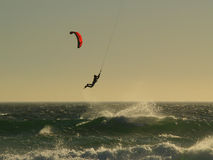 Kitesurfing. Taken in Cape Town - South Africa - capital of this sport stock image