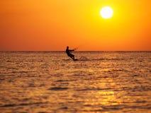 Kitesurfing Fotografie Stock