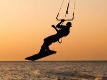 Kitesurfing Immagine Stock