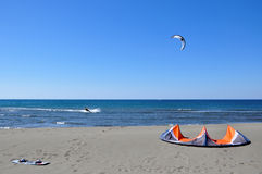 Kitesurfing Immagine Stock Libera da Diritti