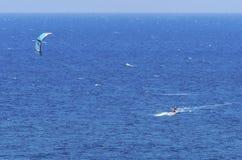 Kitesurfing Royalty-vrije Stock Foto