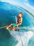 Kitesurfing Arkivbild