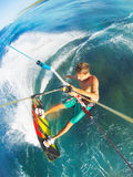 Kitesurfing Royaltyfri Fotografi