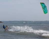 Kitesurfing Fotografie Stock Libere da Diritti