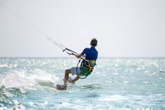 Kitesurfing Стоковая Фотография