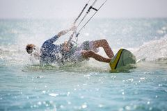 Kitesurfing Stockfotos
