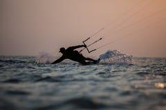 Kitesurfing Stockfotografie