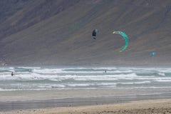 Kitesurfing Fotografia de Stock