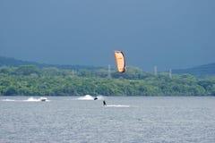 Kitesurfing Στοκ Φωτογραφία