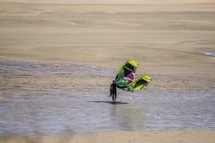 Kitesurfing Stockfoto