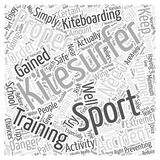 Kitesurfing accident word cloud concept word cloud concept vector background. Text Stock Image