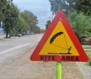 Kitesurfing area sign Stock Photos
